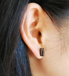 Key Bar Earrings, 10 mm by Hur Jewelry on Scoutmob Shoppe