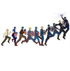 Captain America Character Development – Avengers Endgame - Farm Tutorial and Ideas Marvel Dc Comics, Marvel Avengers, Marvel Jokes, Marvel Funny, Thanos Marvel, Steve Rogers, Die Rächer, Dc Memes, Captain Marvel