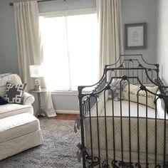A modern a neutral nursery by IG mom @beccabdill featuring the Parisian crib.