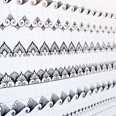 34 Ideas for tattoo designs drawings sketchbooks doodles Graph Paper Drawings, Graph Paper Art, Zentangle Drawings, Zentangles, Mandala Art Lesson, Mandala Drawing, Mandala Painting, Doodle Patterns, Zentangle Patterns