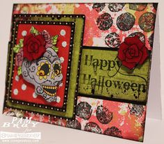 It's All About the Dead card with #Stampendous flair. #GlueDots