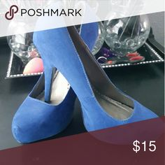 Torrid Blue Suede Pumps Blue suede heels by torrid. Only worn twice.  These are 4 1/2 inch heels. torrid Shoes Heels
