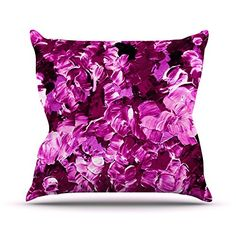 KESS InHouse JD1065COP03 18 x 18-Inch 'Ebi Emporium Floral Fantasy III Magenta' Outdoor Throw Cushion - Multi-Colour * Continue with the details at the image link. #GardenFurnitureandAccessories
