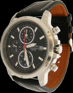 YM92-X175 ST Pulsar Mens Gents Chronograph Date Display Leather Strap Watch