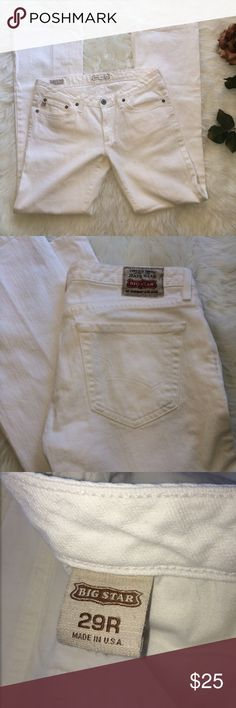 Big star 29R white boot cut jeans Good condition, only worn once. Big Star Jeans Boot Cut