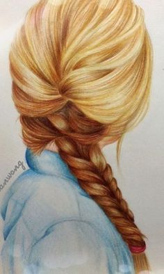 How amazing is this hair sketch? Amazing Drawings, Cute Drawings, Amazing Art, Awesome, How To Draw Braids, How To Draw Hair, Kristina Webb Art, Hair Sketch, Hair Art