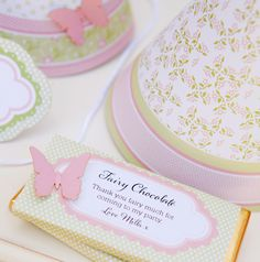 Fairy Garden Birthday Party | Pizzazzerie  Very cute butterfly accents. Pretty colors