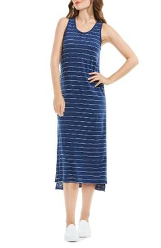 Free shipping and returns on Two by Vince Camuto Delicate Stripe Tank Dress at Nordstrom.com. Slender stripes wrap the striated knit of a scoop-neck midi dress as comfy as your favorite tee (but so much cuter!).