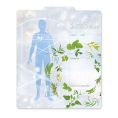 Gutscheinvorlage für Naturheilkunde Flower Of Life, Natural Medicine, Templates, Cards, Flowers, Gifts
