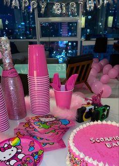 Pretty Birthday Cakes, 18th Birthday Party, Happy Birthday, Birthday Gifts, Its My Bday, Bday Girl, Pink Parties, Sweet Sixteen, Birthday Decorations