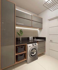 functional and stylish laundry room design ideas to inspire 41 Modern Laundry Rooms, Laundry Room Layouts, Laundry Room Remodel, Laundry Room Cabinets, Laundry Room Organization, Storage Organization, Kitchen Interior, Interior Design Living Room, Interior Door