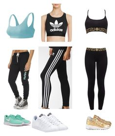 """Untitled #102"" by robotnik22 on Polyvore featuring adidas, adidas Originals, Hurley, Versace and New Balance"