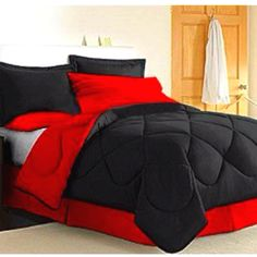Red And Black Bedding Bedroom Decor Ideas. Red And Black Comforter Scary Jane. Black And Red Bedding. Beautiful Red And White Floral Bed. Red Comforter Sets, Dorm Bedding Sets, Black Comforter, College Bedding, Twin Comforter, Gray Bedding, Teen Bedding, Bedding Shop, Black Bedroom Decor
