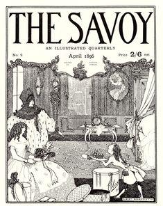 The Savoy April The Savoy II, Zeitschriften, Aubrey Beardsley, Art nouveau Brighton, Japanese Woodcut, Aubrey Beardsley, Art Japonais, Yellow Art, Art Database, Ink Illustrations, Gustav Klimt, William Morris