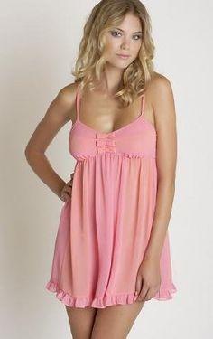 Betsey Johnson Chiffon Babydoll 732800 (Large, Pink Cheeks/Cantaloupe (PNKOG)) - Price: $71.56