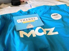 """""""Holy cow! got tshirt from Moz today. Thanks!"""" - @Larry Kim"""