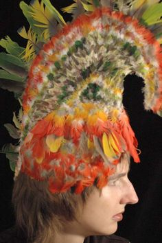 Hawaiian feather helmet.. AKA what my brother is getting for Christmas next year....