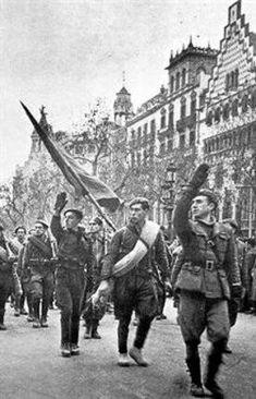 Las tropas nacionales entran en Barcelona