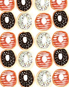 Mmm, more donuts. #pattern #illustration #food