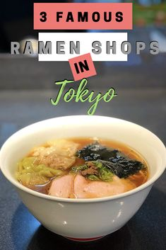 I checked out three of the most famous ramen shops in Japan! Check out my rating