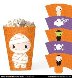 Cajas imprimibles de Halloween Cajitas para por eltendedero
