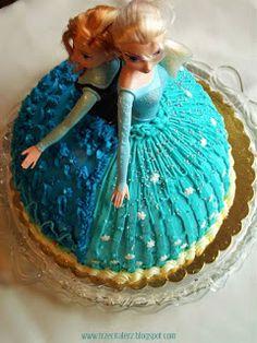 Tort Kraina Lodu (Frozen) - Anna i Elsa