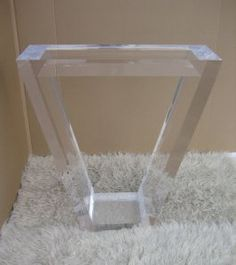 Custom Aaron R Thomas Lucite / Acrylic Entry Table - Modern Acrylic Furniture by Aaron R. Thomas