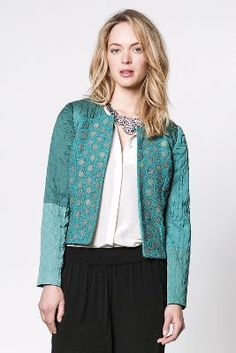 Blank Quilted Crochet Jacket