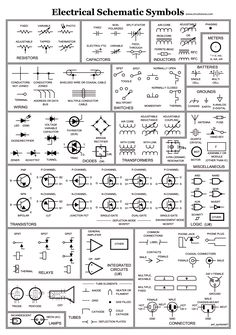 schematic symbols chart electrical symbols on wiring and schematic electronic symbols chart electrical schematic symbols