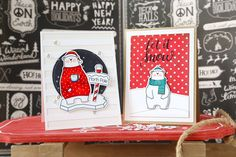 Cool Day stamp set and Die-namics, Stitched Snow Drifts Die-namics, Stripes Cover-Up Die-namics - Elena Roussakis #mftstamps