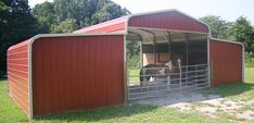 Run in with stalls on each side.