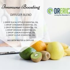 Optimize your body's immune defense with this healing and restoring diffuser blend!