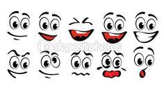 Caras de dibujos animados — Vector de stock #6018052