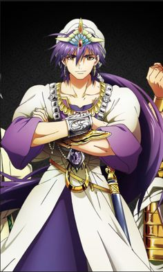Magi- Sinbad  Cute anime guys Magi Judal, Sinbad Magi, Magi Kingdom Of Magic, Anime Magi, Emo Boys, Cute Anime Guys, Noragami, Anime Shows, Whales