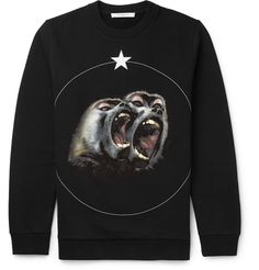 Givenchy - Monkey Brothers Cuban-Fit Printed Fleece-Back Cotton-Jersey Sweatshirt 520 EUR.