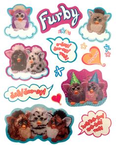 Transparent sticker images — Furby stickers by Hasbro, released with the. Overlays, Printable Images, Printable Stickers, Aesthetic Stickers, Cute Stickers, Kawaii Stickers, Transparent Stickers, Retro, Sticker Design