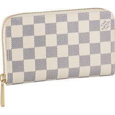 Louis Vuitton N60029 Damier Azur Canvas Zippy Compact Wallet Azul