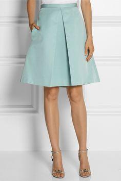 Tibi|Katia cotton and silk-blend faille skirt|NET-A-PORTER.COM