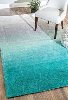 Home Decorators Collection | nuLOOM Handmade Ombre Shag Rug 12 x 9 Turquoise >>> You can find more details by visiting the image link. Note:It is Affiliate Link to Amazon.