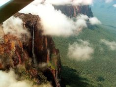 Angel Falls or Salto Ángel is the world's highest waterfall, dropping a total of 978 meter from the summit of the Auyan Tepuy, and with an 807meter uninterrupted drop. Because the falls are located in an isolated jungle region of Venezuela the only access to Canaima National Park, the gateway to Angel Falls, is by air.