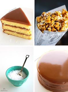 The best yellow cake you've ever had, filled and covered with the creamiest, southern-style caramel icing, sprinkled with sea salt and optional salted caramel popcorn! Salted Caramel Popcorn, Caramel Icing, Salted Caramels, Carmel Cake, Southern Caramel Cake, Oreo Fudge, Food Plating, Queso, Delicious Desserts