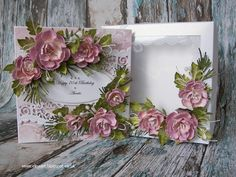 Elina Cardmaking Hobby, Filigree card with flowers