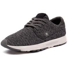 Ripcurl Roamer Grey (€66) ❤ liked on Polyvore featuring men's fashion, men's shoes, men's sneakers, mens gray dress shoes, mens grey shoes, mens lace up shoes and mens grey sneakers