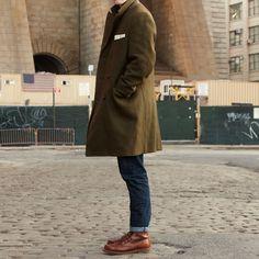 Coat. Denim. Boots.