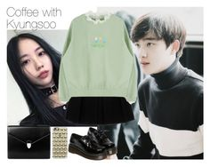 """""""Coffee with Kyungsoo"""" by theycallmebeatriz ❤ liked on Polyvore featuring Enza Costa, WithChic, Casetify and Aspinal of London"""