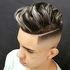 Dapper Haircuts For Men - High Bald Fade with Part and Textured Top