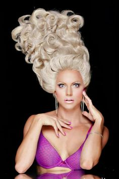 Courtney Act, and that is one fabulous wig
