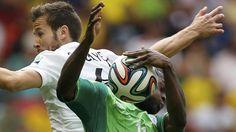 Francia frente a Nigeria, en el estadio Mané Garrincha, en Brasilia, por los octavos de final. (AFP)