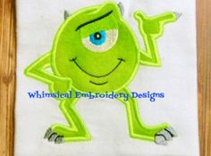 Mike Monster's Inc. Applique Machine Embroidery Designs INSTANT DOWNLOAD | Meylah