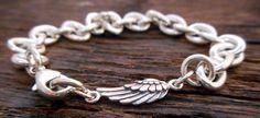 Angel Wings Bracelet Sideways bracelet by OrganicRustCreation, $80.00